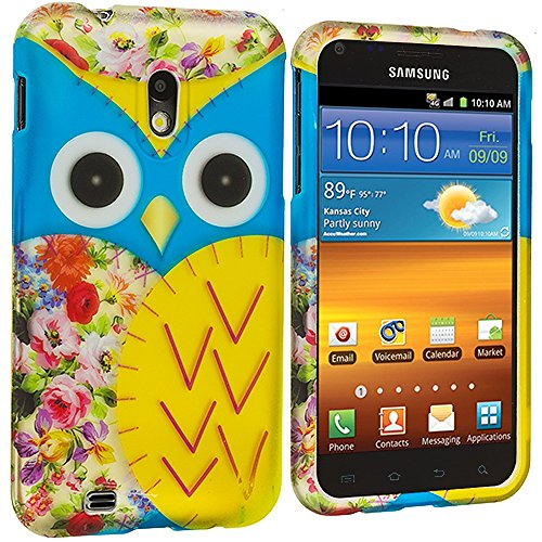 Samsung Sprint Galaxy S2 Case, TechSpec(TM) Blue Yellow Owl Hard Rubberized Design Case Cover for Samsung Epic Touch 4G D710 Sprint Galaxy S2 (Sprint Samsung Galaxy S2 Case compare prices)