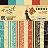 Graphic 45 Couture Patterns and Solids Pad, 6 by 6-Inch