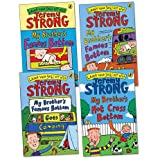 Jeremy Strong My Brother's Famous Bottom Pack, 4 books, RRP £19.96 (My Brother's Famous Bottom; My Brother's Famous Bottom Gets Pinched!; My Brother's Famous Bottom Goes Camping; My Brother's Hot Cross Bottom).