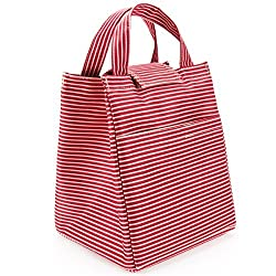 Vesfashion Red 9.44'x7.67'x7.08' Reusable Insulated Lunch Bag Lunch Box Bento Lunch Box Lunch Boxes for Adults Reusable Bags Lunch Healthy Lunch Boxes Lunch Bags for Women Lunch Bag