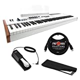 Arturia KeyLab 88 Hybrid 88-Key Controller with 6ft MIDI Cable, Sustain Pedal & Keyboard Dust Cover (Large) Bundle