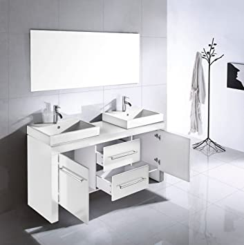 badm bel sphinx weiss hochglanz aufgebaut dc604. Black Bedroom Furniture Sets. Home Design Ideas
