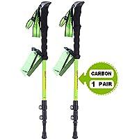 JESBAN 2-Pack Trekking Poles Walking Hiking Sticks for Travel Hiking Climbing