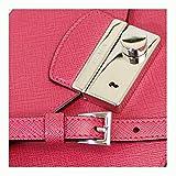 PRADA Women's Saffiano Leather Clutch Bag W/Strap Pink Bt0960 Peonia