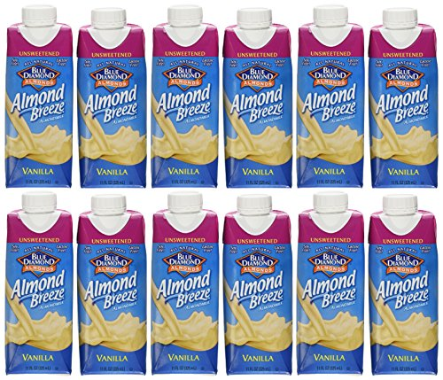 Almond Breeze Vanilla Unsweetened Almond Milk, 11 Ounce -- 12 per case. - 1