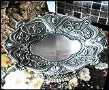 ヨーロピアンテイスト アンティーク 宮廷風  素敵な 銀の 台座付き フルーツディッシュ