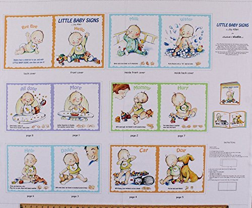 355-x-44-panel-baby-signs-language-hands-motion-soft-book-multi-cotton-fabric-panel-1829-multi-by-fi