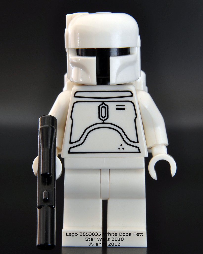 Lego Star Wars Boba Fett Minifigure Star Wars White Boba Fett