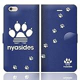 [iPhone6S 6 兼用 手帳型 ケース カバー] NYASIDES ニャシデス C