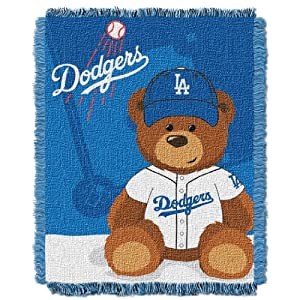 MLB Los Angeles Dodgers Field Woven Jacquard Baby Throw Blanket, 36x46-Inch by Northwest