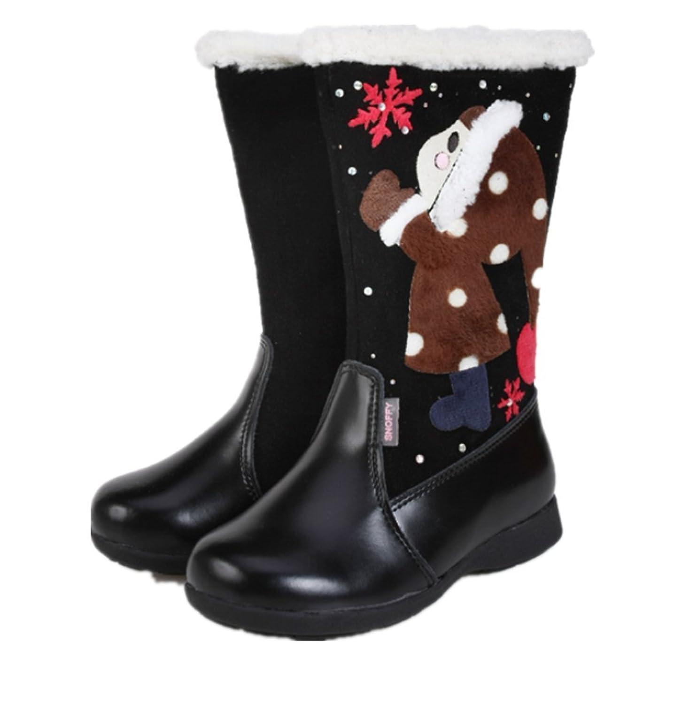 Schöne Weihnachtsstiefel Winter warm Anti-Rutsch Leder Stiefel snow boots/Schneestiefel Kinder-Schneeschuhe Jungen Stiefel Mädchenbaumwollstiefel Kinder warmen stiefel Fashion Kinder Schuhe kaufen