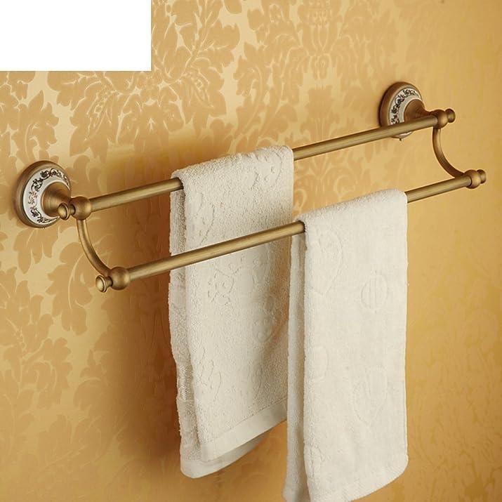 Barra di tovagliolo del rame/ doppia cremagliera di tovagliolo/Bagno asciugamano Bar/Elegante ciondolo