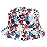 Disney Characters All Over Cartoon Youth Kids Reversible Fisherman Bucket Hat