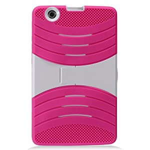 LG G Pad X 8.0 Case, IECUMIE WAVE Skin Protective Cover Case w/ Built-in Kick Stand for LG G Pad X, 8.0 - Light Pink (Package Include an IECUMIE Stylus Pen)
