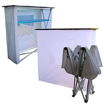 """'Promotion mostrador/Feria mostrador/plegable mostrador """"Fabric Incluye Impresión sobre plástico"""