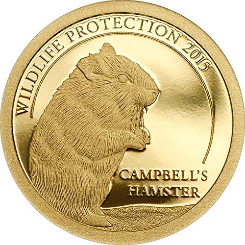 2015 Mongolia - Wildlife Protection - Hamster - Mongolia - 500 Togrog - 0,5g - Gold Coin - Uncirculated