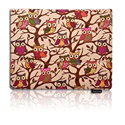 iPad Air Case by Thankscase,Slim Lightweight Smart Beige Owls Canvas Case Cover for iPad Air iPad 5 (Only for iPad air 1st Generation) with Smart Cover Feature with Ultra-soft Interior Built-in Elastic Hand Strap for iPad Air. (Beige Owls).
