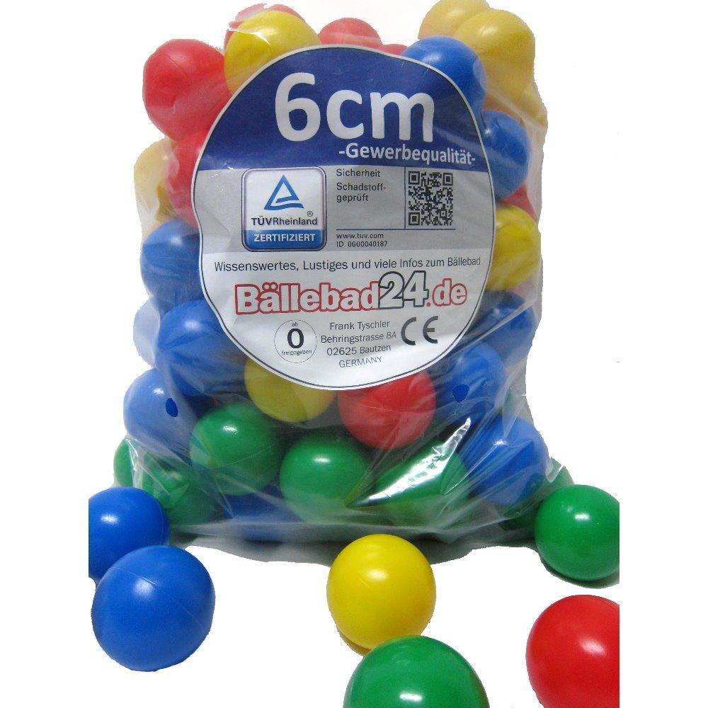 1.000 Stück Bällebad Bälle 6cm in Kindergarten & Gewerbequalität Babybälle Plastikbälle ohne gefähliche Weichmacher (Test neu vom SEPTEMBER / 2011)