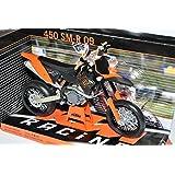 KTM 450 SM-R09 2009 Orange Schwarz Enduro 1/12 Automaxx Modell Motorrad mit oder ohne individiuellem Wunschkennzeichen