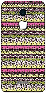 Snoogg Aztec Pink Designer Protective Back Case Cover For Coolpad Note 3 (White, 16GB)