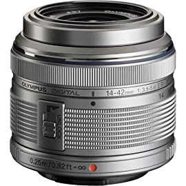 Olympus M.Zuiko Digital 14-42MM f/3.5-5.6 2R MSC Zoom Lens (Silver)