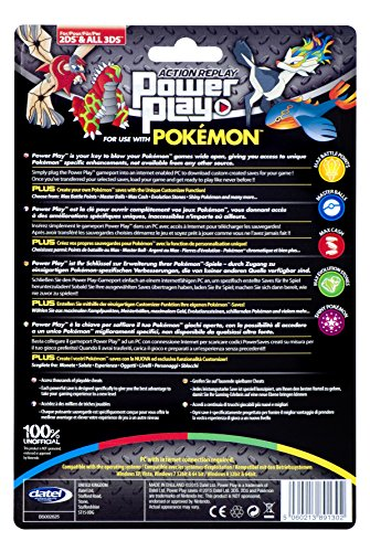 Datel-PM23DS-Action-Replay-Power-Play-Game-SavesCheats-for-Pokemon-X-Y-with-Unique-User-Customization-Nintendo-3DS2DS