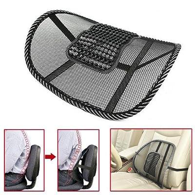 Dealpeak Comfortable Lumbar Mesh Back Brace Massage Cushion for Car Waist Seat Office Chair