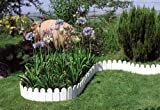 Country Lawn Edging border. Set of 4 in white