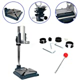 Electric Drill Press Stand Tool Bench Pedestal Clamp For Hand Drills 38-43mm Heavy Duty Base