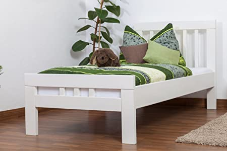 "Tagesbett ""Easy Sleep"" K8, Buche Vollholz massiv weiß lackiert - Maße: 90 x 190 cm"