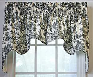 black toile shower curtain 2