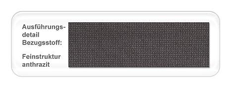Polsterbett mit Bettkasten Larissa Kopfteil glatt Varianten Lattenrost Bettgestell Futonbett Doppelbett Singlebett Bett, Liegefläche:140 x 200 cm;Farbe:anthrazit