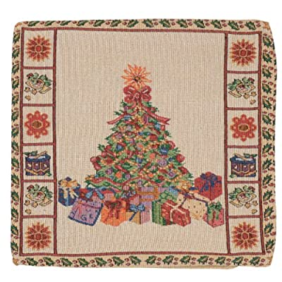 """Cushion Cover - Gorgeous Tapestry Style Christmas Tree Design 18"""" (45cm)"""