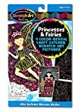 Color-Reveal Light Catchers turn coloring inside out! The smooth, black-coated surface of each princess- and fairy-themed board is printed with the outlines of an exciting picture; the full-color image hides just beneath the surface. Simply scratch your lines, dots, swirls and patterns with the wooden stylus to reveal the hidden colors and translucent background! Then hang it in a sunny wondow to see your unique artwork come to life. This unique kids' craft set includes everything needed to make four Scratch Art masterpieces.