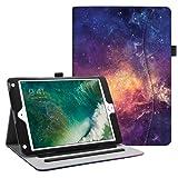 Fintie iPad 9.7 2018 2017 / iPad Air 2 / iPad Air Case - [Corner Protection] Multi-Angle Viewing Folio Cover w/Pocket, Auto Wake/Sleep for Apple iPad 6th / 5th Gen, iPad Air 1/2, Galaxy (Color: ZA-Galaxy, Tamaño: 9.7 Inch)