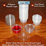 Polar Ice Jello Durable Plastic Shot Glasses, 2-Ounce, Translucent