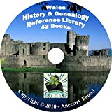 43 old books Wales History & Genealogy, Ancestry on DVD