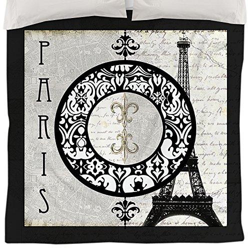 Thumbprintz Duvet Cover, Twin, Paris Circle Eiffel Tower front-16465