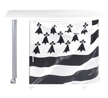 Simmob COOL100BL560 bandiera bretone 560 scrivania girevole in legno, colore: bianco, dimensioni: 55 x 105 x 74,7 cm