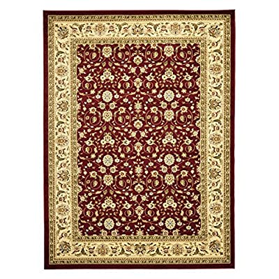 Safavieh Lyndhurst Collection LNH312A Traditional Oriental Red and Ivory Area Rug