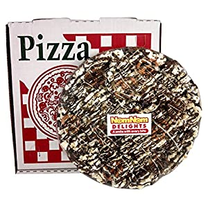 NomNom Delights Chocolate Lovers Popcorn Pizza in a Box - Unique Gourmet Gift! Kosher Certified (Gluten Free)