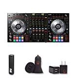 Pioneer DDJ-SZ2 4-channel controller for Serato DJ with 2 Year Warranty + PowerBank + USB Car Charger + USB Wall Charger, EZEE Bundle (Tamaño: DDJ-SZ2)