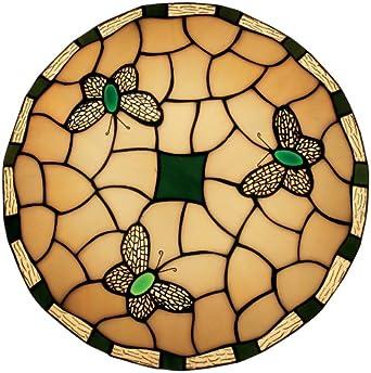 Oaks Lighting Papillon Suspension / Abat-jour Style Tiffany