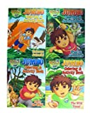 Go Diego Go Coloring Book Set - Diego Jumbo Coloring & Activity Book (4 Books)