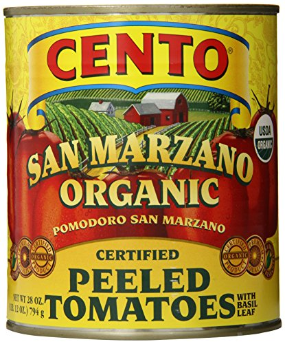 Cento San Marzano Organic Peeled Tomatoes, 28 Ounce (Pack of 6) (Canned Plum Tomatoes compare prices)