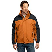 Port Authority Tall Nootka Jacket-2XLT (Cadmium Orange/Graphite)