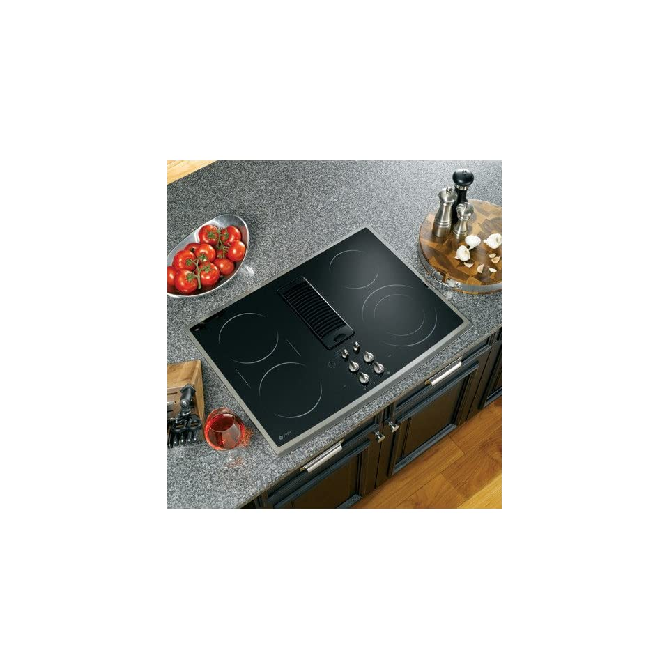 GE PP989SNSS Profile 30 Stainless Steel Electric Smoothtop Cooktop   Downdraft