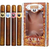 CUBA VARIETY by Cuba 4 PIECE VARIETY WITH CUBA GOLD, BLUE, RED & ORANGE & ALL ARE EDT SPRAY 1.17 OZ (Package Of 3)
