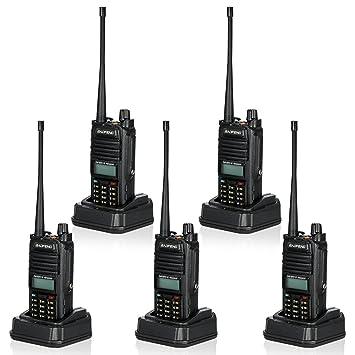 BAOFENG 5Pcs R760 128CH émetteur/Récepteur Radio Bidirectionnelle FM Bi-bande VHF 136-174MHz&UHF 400-520MHz Talkie Walkie Portatif Interphone Lampe de Poche