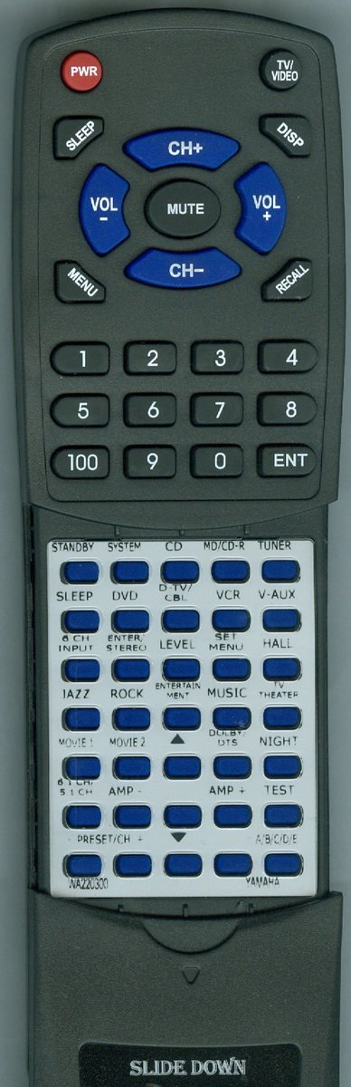 Фото - YAMAHA Replacement Remote Control for YHT550, HTR5730SL, RXV350, HTR5730, YHT150 chunghop rm l7 multifunctional learning remote control silver